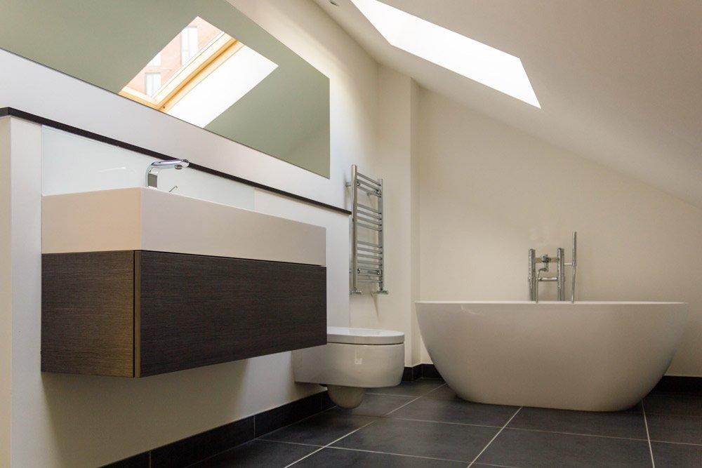 Loft bathroom design