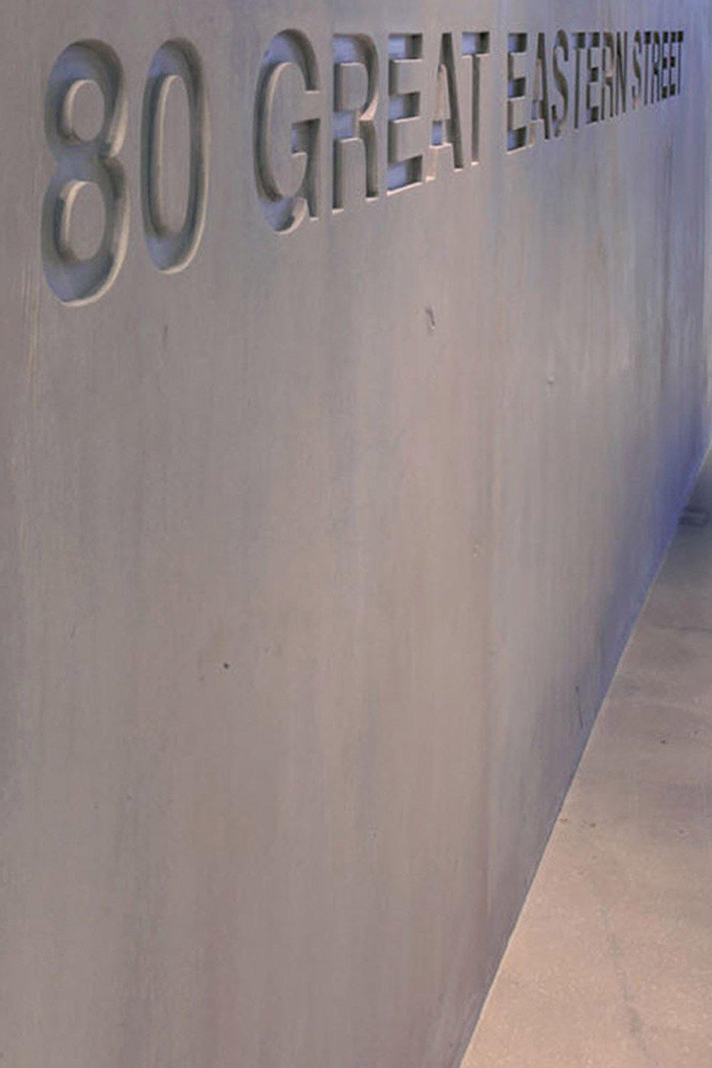 polished concrete desk - Architecture and Design